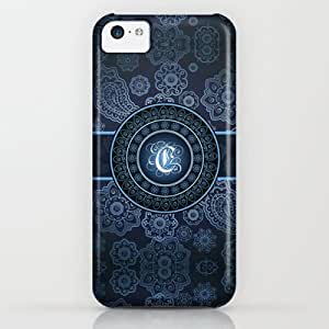 Society6 - Monogrammed Aridi C Blue iPhone & iPod Case by Robin Curtiss