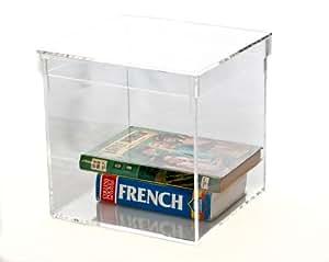 Pequeño acrílico transparente almacenamiento/Caja expositora (sin tapa)