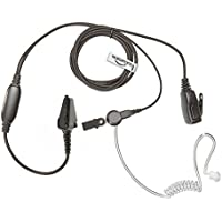 KENWOOD Radio Multi Pin Earpiece (Bodyguard Style Two Wire Covert Acoustic Tube Headset with HQ PTT Microphone) THE-SECURITY-STORE