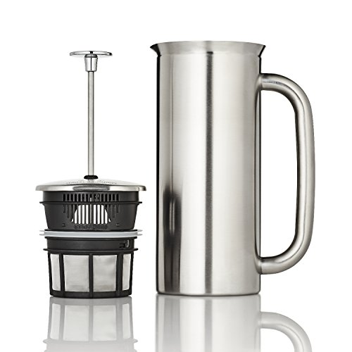 Espro Coffee Press P7-32 oz Double Wall Vacuum Insulated Brushed Stainless Steel Coffee Press