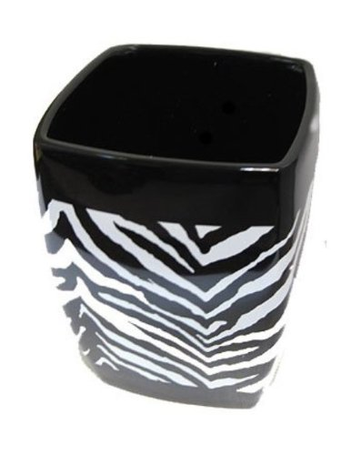 - Creative Bath Products Zebra Wastebasket