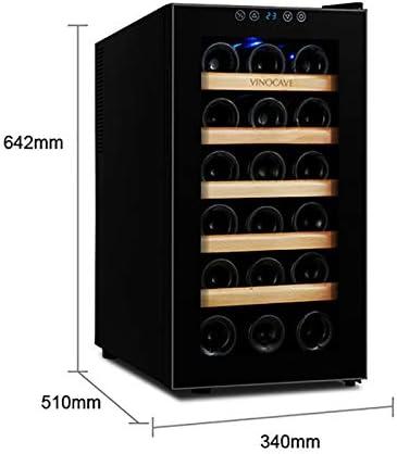 CLING Refrigerador de Vino Refrigerador de Vino para 18 Botellas Refrigerador de Vino pequeño con Puerta de Vidrio y manija Oculta Enfriador de Vino Independiente para Oficina en casa, Cocina y Bar