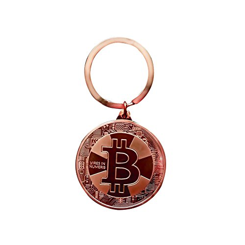Coin China Commemorative (Usaboutall Most Convenient And Creative Key Ring Bitcoin Commemorative Keychain Collectible Coin Art Collection Gift - Copper)