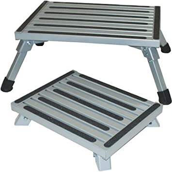 aluminum safety bariatric folding step stool with lb load capacity size small