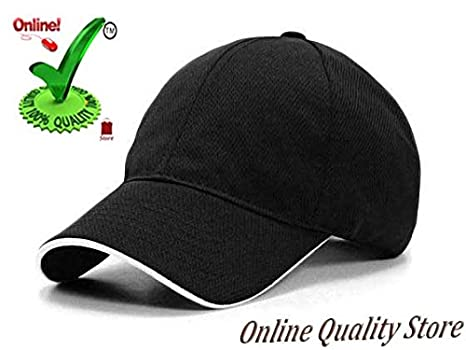 6a6488fd45 Online Quality Store Cap for Men's and Women's, (Red and Black) - Pack of  2: Amazon.in: Clothing & Accessories