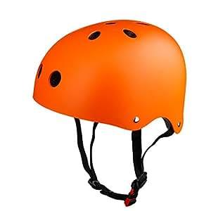 Naranja casco niños patineta 50-53 cm pequeño