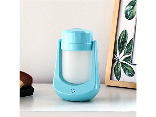 Yunqir Compatible Air Lamp Aroma Humidifier USB Mini Night Light LED Ultrasonic Air Aromatherapy Essential Purifier Atomizer Super Quiet Fragrance Machine (Blue)