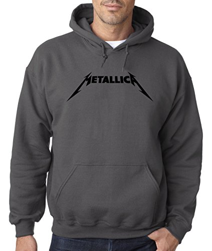 Hilarious Hoodie Sweatshirt (New Way 778 - Hoodie Metallica Beavis Butt-Head Parody Logo Unisex Pullover Sweatshirt Medium Charcoal)