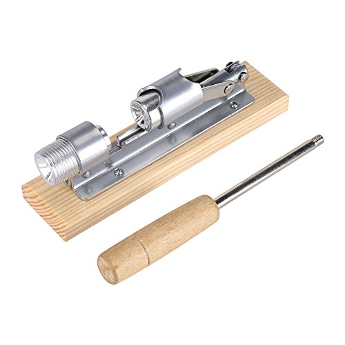 Heavy Duty Nutcracker Pecan Nut Cracker Opener Tool Desktop Wood Handle & Base by Haofy