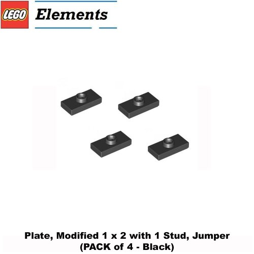 lego-parts-plate-modified-1-x-2-with-1-stud-jumper-pack-of-4-black