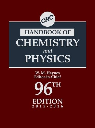 CRC Handbook of Chemistry and Physics, 96th Edition (CRC Handbook of Chemistry & Physics) (Handbook Of Chemistry And Physics The Elements)