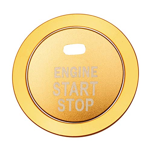 Travay Start Stop Button Sticker Push Button Compatible with Subaru Forester Legacy Impreza Ourback Ascent BRZ XV and Others Gold