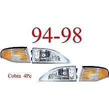 94-98 Mustang Cobra 4Pc Head Light & Park Light Kit
