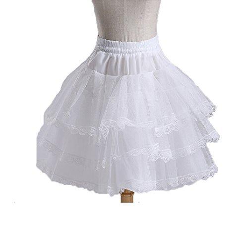 Ruiyuhong Girl's White Short Crinoline Petticoats Slips Underskirt for Wedding Party PC1 Style1) PC001