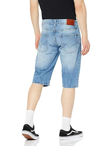 Cash Uomo Used Gq3 Denim medium Short Pepe Pantaloncini Blu Jeans SOqfAn5