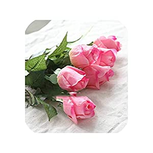 20 Pcs/lot Artificial Flowers Latex Rose for a Wedding Home Party Decoration Real Touch Christmas Flower,Rose red 2 26