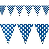 12FT BLUE POLKA DOT BUNTING FLAGS HOME DECORATION (1 bunting) by WISH LIST FOR YOU