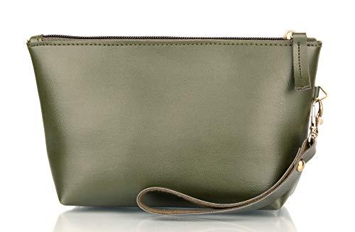 Mammon PU Makeup Bag/Pencil Pouch Purse Handbag Organizer with Zipper (Mu-pouch-Green)