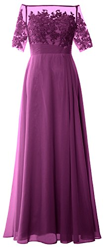 Sangria Of Macloth Off Half Bride Mother Women Sleeve Evening Gown Dress Lace Shoulder zwz7qrHxZ
