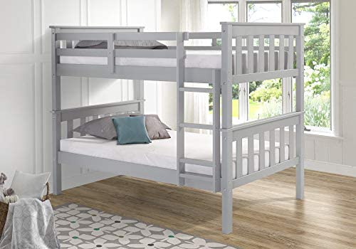 Gray Twin Over Twin Bunk Beds/Solid Wood