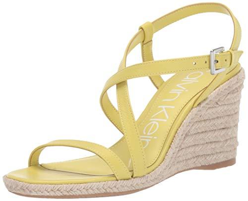 Lime Green Footwear - Calvin Klein Women's BELLEMINE Wedge Sandal, Lime, 9.5 M US