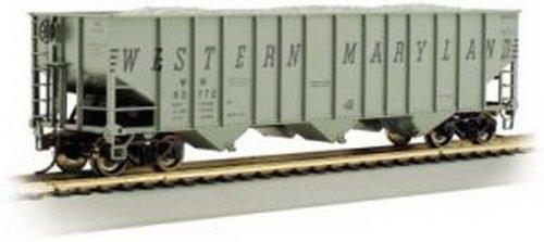 Bachmann Trains Western Maryland (Gray) #63834 Bethlehem Steel 100 Ton Three-Bay Hopper-Ho Scale (Western Maryland Ho Scale)