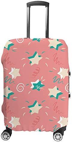 スーツケースカバー 星 ピンク 伸縮素材 キャリーバッグ お荷物カバ 保護 傷や汚れから守る ジッパー 水洗える 旅行 出張 S/M/L/XLサイズ