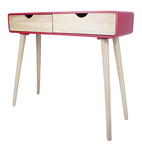 Heather Ann Creations W22375-RED Euro Collection Modern Console Table Writing Desk, Red Review