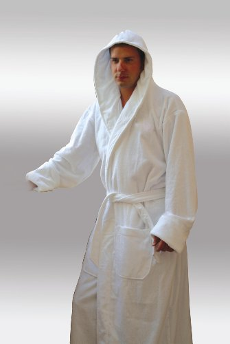 Spa & Resort Hooded Terry Velour Bathbobe 8 Colors Available. Full Length 52 Inches