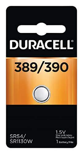 Duracell D389/390PK Watch/Electronics Battery, 1.5 Silver Oxide ()