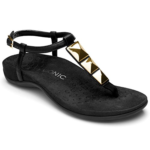 Sandals Low Women's Nala Black Heel Rest Vionic 0wqxCq8Z