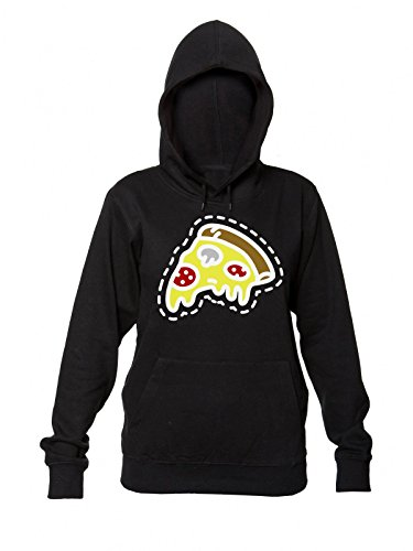 da Mushrums With Donna Cheese Of con Pizza Women's Tasty Slice And Hooded Sweatshirt Sausage Felpa Cappuccio qt0wnPA