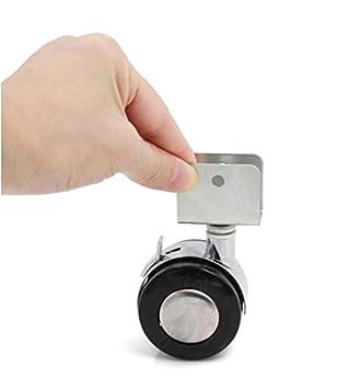 PRZLL Cuna cama ruedas/ruedas/ruedas wheel/tablilla/2 correa frenos/ruedas: Amazon.es: Hogar