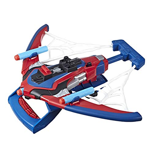 Spider Man Shooting Webs (Spider-Man Web Shots Spiderbolt Nerf Powered Blaster Toy for Kids Ages 5 &)