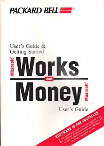 packard bell user s guide getting started microsoft works and rh amazon com microsoft money user s guide microsoft money 2005 user guide