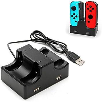 Donkeyphone - Base Cargador para MANDOS Joy-con DE Nintendo Switch ...