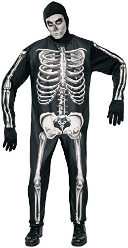 Forum Novelties Men's Skeleton Costume, Black, Standard
