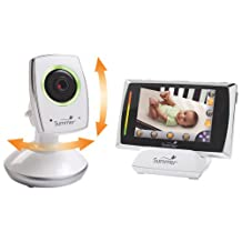 "Summer Infant Baby Touch 3.5"" WiFi Video Baby Monitor with Pan/Tilt & Two-way Communication_White; Black"