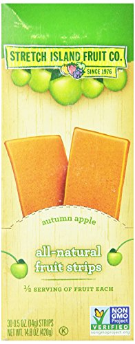 Fruit Leather - Stretch Island Apple Fruit Leather, 0.5-ounce Bags (Pack of 30)