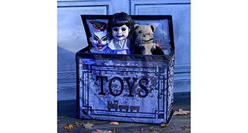 Tekky Toys Animated Haunted Toy Box, 26 Inches by 12 1/4 Inches by 21 1/4 Inches, Fabric and Plastic, Opens and Speaks -