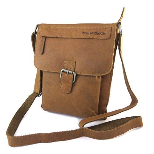 Bolsa de cuero 'Gianni Conti'marrón de la vendimia - 27x21x3 cm.