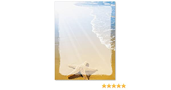Paradise Found Beach Letter Papers, 100 Count