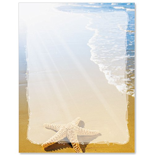 - Paradise Found Beach Letter Paper, 8.5 x 11 Inches, 100 Count, 24 lb. Paper Weight, Laser and Inkjet Compatible