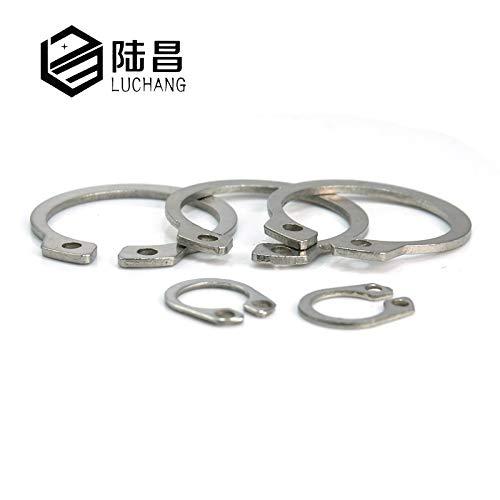 Ochoos Gourd C-Type Washer M19-M55 304 Stainless Steel C-Type Elastic Ring External Circlip Snap Retaining Circlip Washer - (Inner Diameter: M21 50PCS)