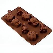 Cy-buity Couleur aléatoire de Noël Muffin en Silicone Moule à gâteau Moule Ustensiles de cuisson moule moule à glace Tools