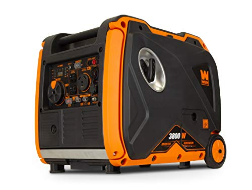 (WEN 56380i Super Quiet 3800-Watt Portable Inverter Generator with Fuel Shut-Off and Electric Start)