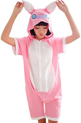 Unisex Summer Kigurumi Pajamas Japanese Animal Halloween Costume Adult Sleepwear (Animal Halloween Costumes For Adults)