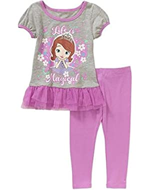 Princess Sofia Life is Magical Baby / Toddler Little Girls Tunic & Leggings Outfit