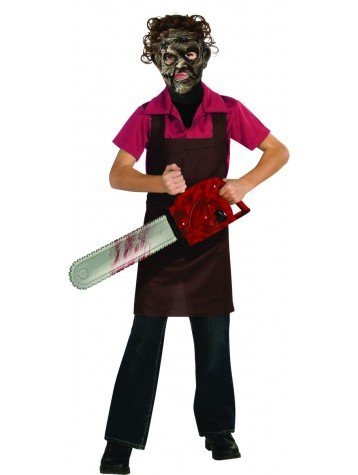 [Texas Chainsaw Massacre III Child's Leatherface Costume, Large] (Texas Chainsaw Massacre Leatherface Apron Child Costume)