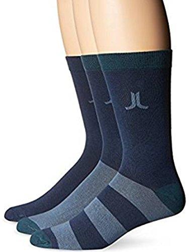 WeSC Men's 3 Pk Remark Pattern Socks (US Size: 10-13, EU Size: 42-45, Deep Sea) from WeSC